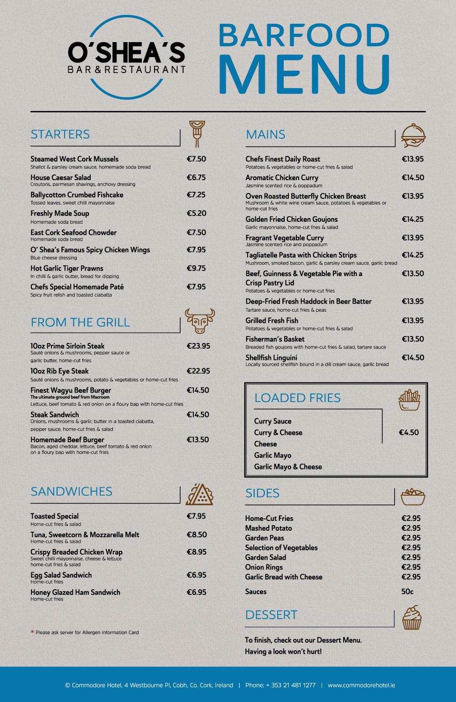 how to make menu for restaurant